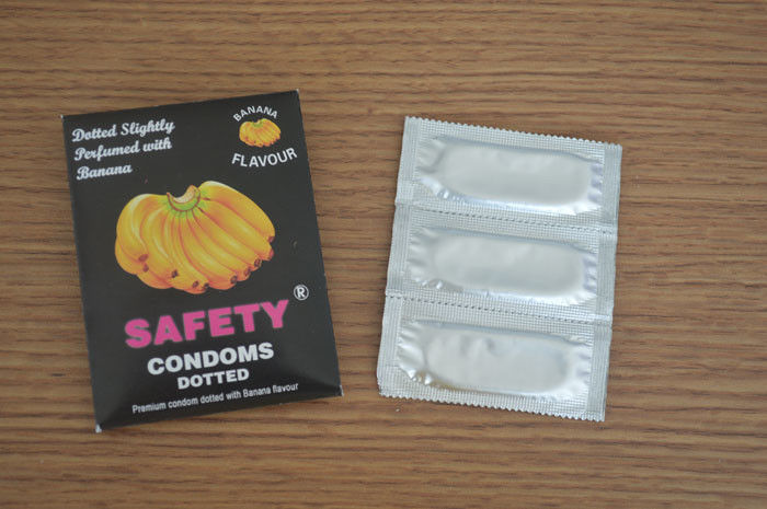 Time Delay Fruit Flavoured Condoms Natural Latex Rubber For Delay Ejaculation